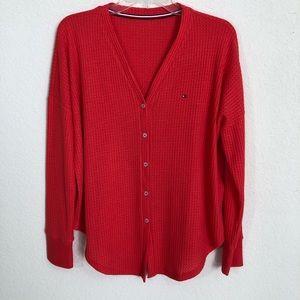 Tommy Hilfiger Red Light Weight Cardigan/Shirt